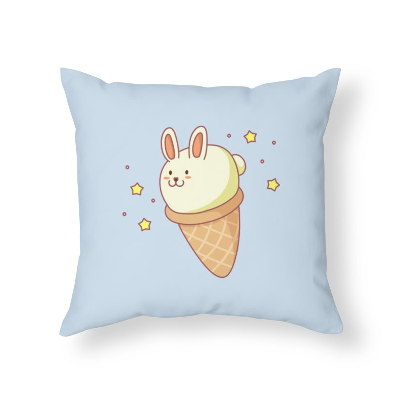 Bunny-lla Ice Cream Home Throw Pillow by anishacreations's Artist Shop