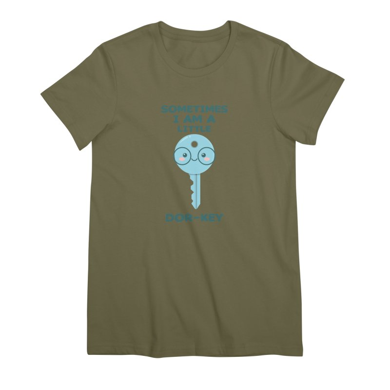 Dor-KEY Women's Premium T-Shirt by anishacreations's Artist Shop