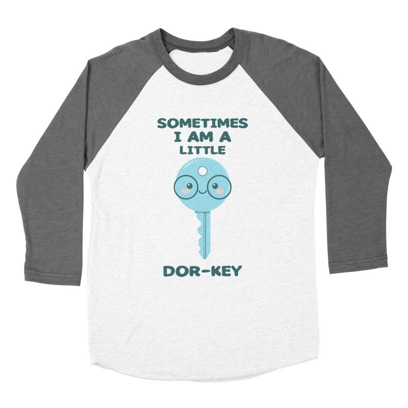 Dor-KEY Women's Baseball Triblend Longsleeve T-Shirt by anishacreations's Artist Shop