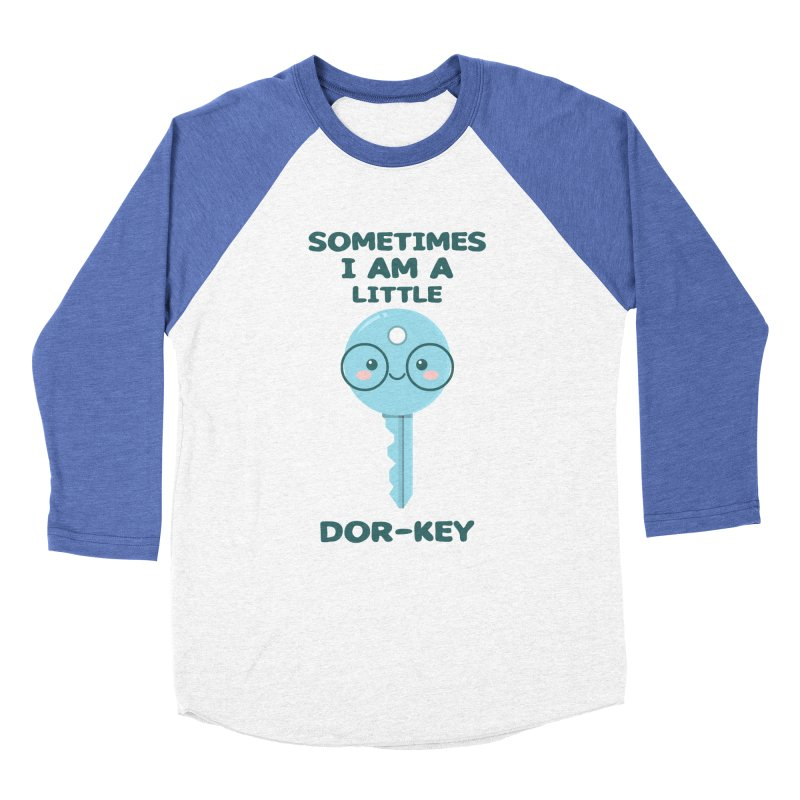 Dor-KEY Men's Baseball Triblend Longsleeve T-Shirt by anishacreations's Artist Shop