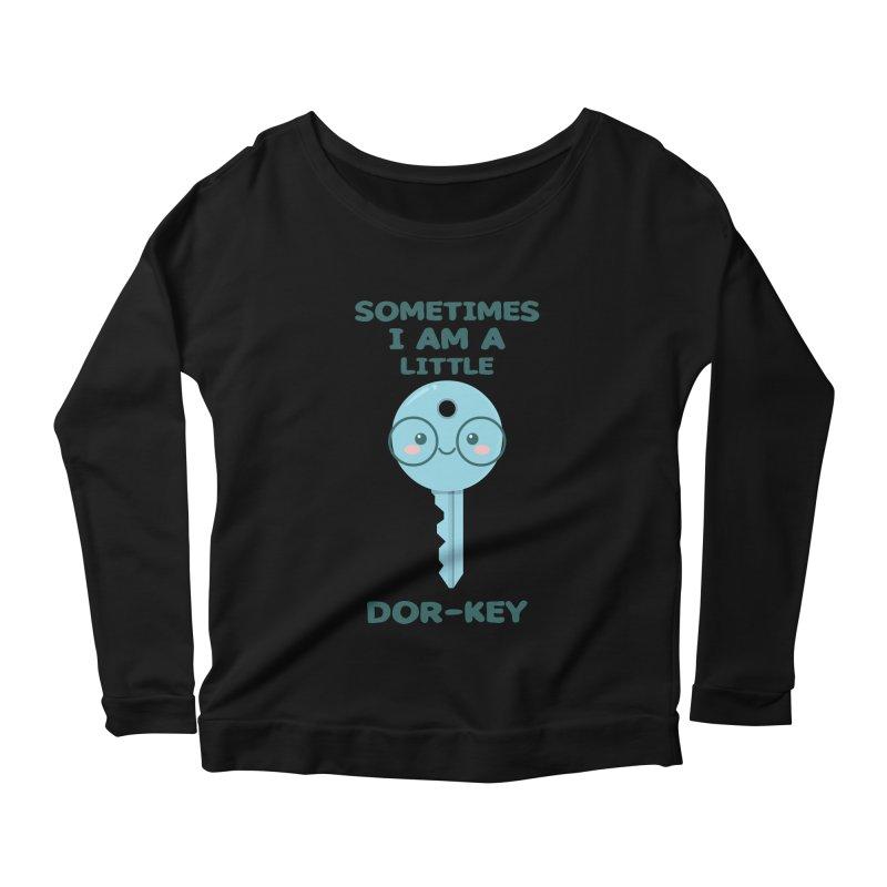 Dor-KEY Women's Scoop Neck Longsleeve T-Shirt by anishacreations's Artist Shop