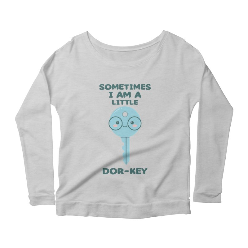 Dor-KEY Women's Scoop Neck Longsleeve T-Shirt by anishacreations's Artist Shop