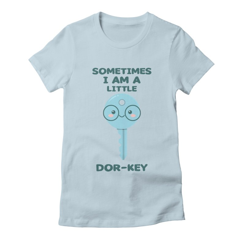 Dor-KEY Women's Fitted T-Shirt by anishacreations's Artist Shop
