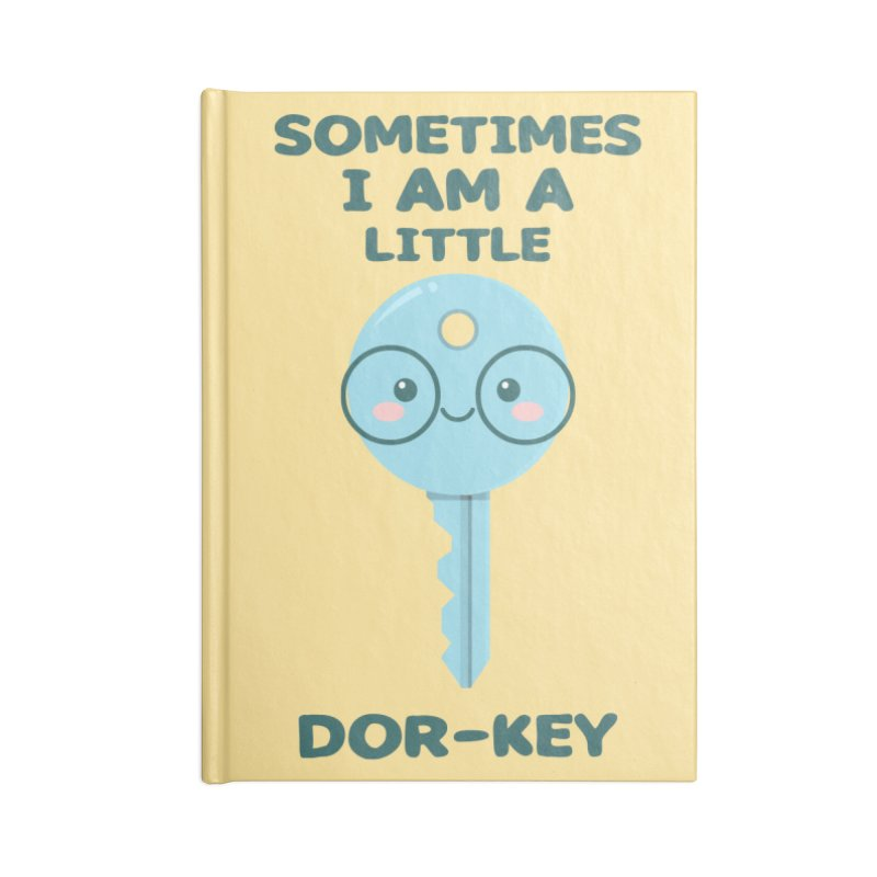 Dor-KEY Accessories Lined Journal Notebook by anishacreations's Artist Shop