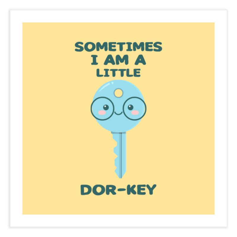 Dor-KEY Home Fine Art Print by anishacreations's Artist Shop