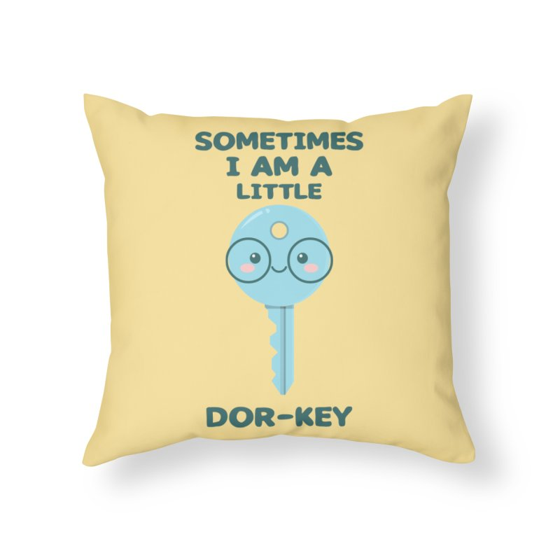 Dor-KEY Home Throw Pillow by anishacreations's Artist Shop