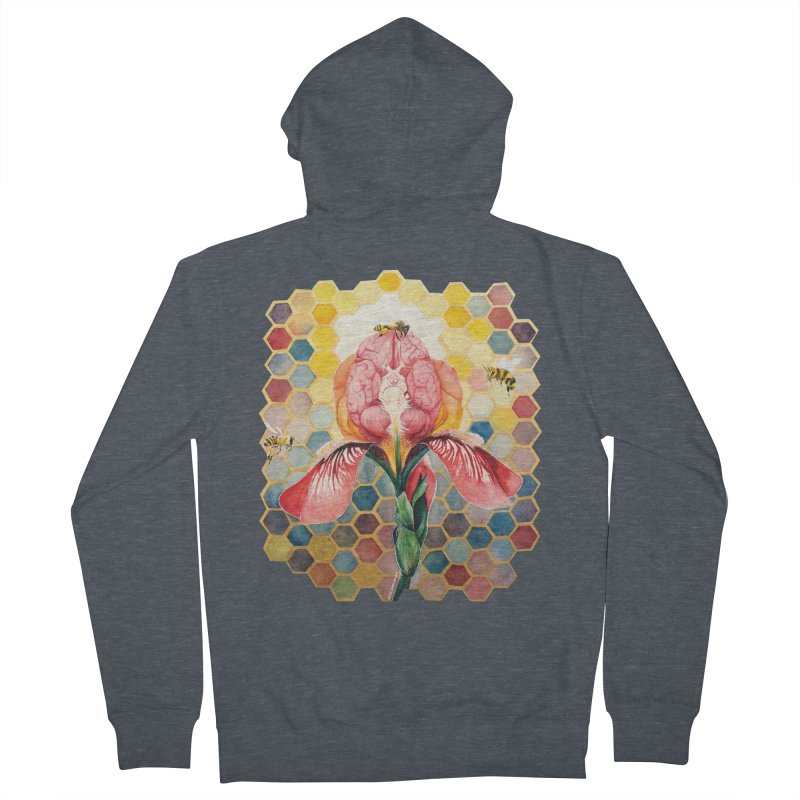 Hive Mind Women's French Terry Zip-Up Hoody by Anissa's Artist Shop