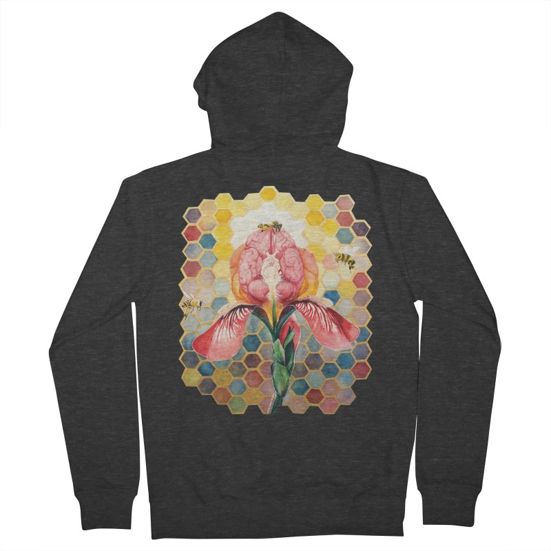 Hive Mind Men's French Terry Zip-Up Hoody by Anissa's Artist Shop