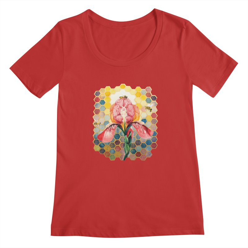 Hive Mind Women's Regular Scoop Neck by Anissa's Artist Shop