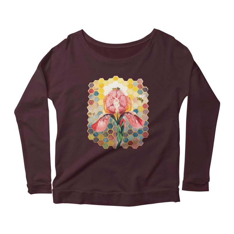 Hive Mind Women's Longsleeve Scoopneck  by Anissa's Artist Shop