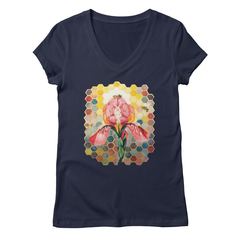 Hive Mind Women's Regular V-Neck by Anissa's Artist Shop