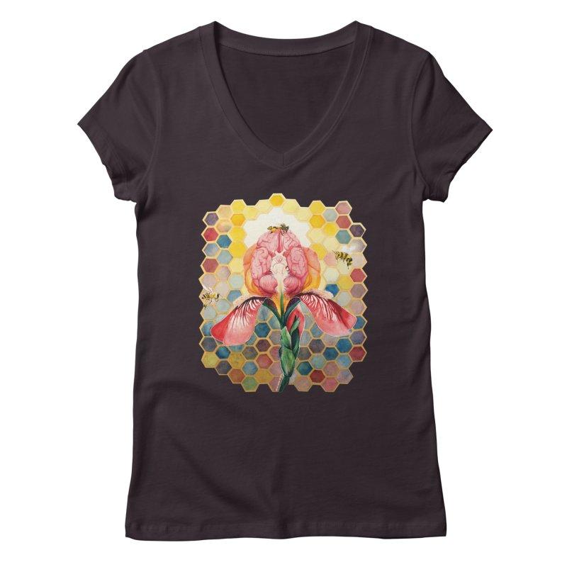 Hive Mind Women's V-Neck by Anissa's Artist Shop