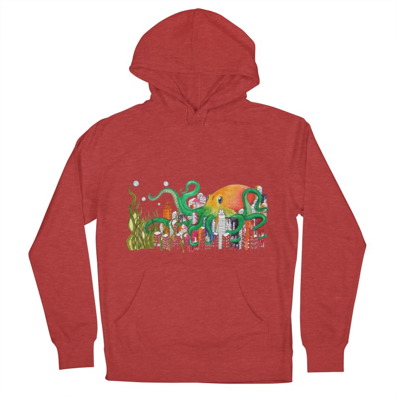 Attack on Austin Women's French Terry Pullover Hoody by Anissa's Artist Shop
