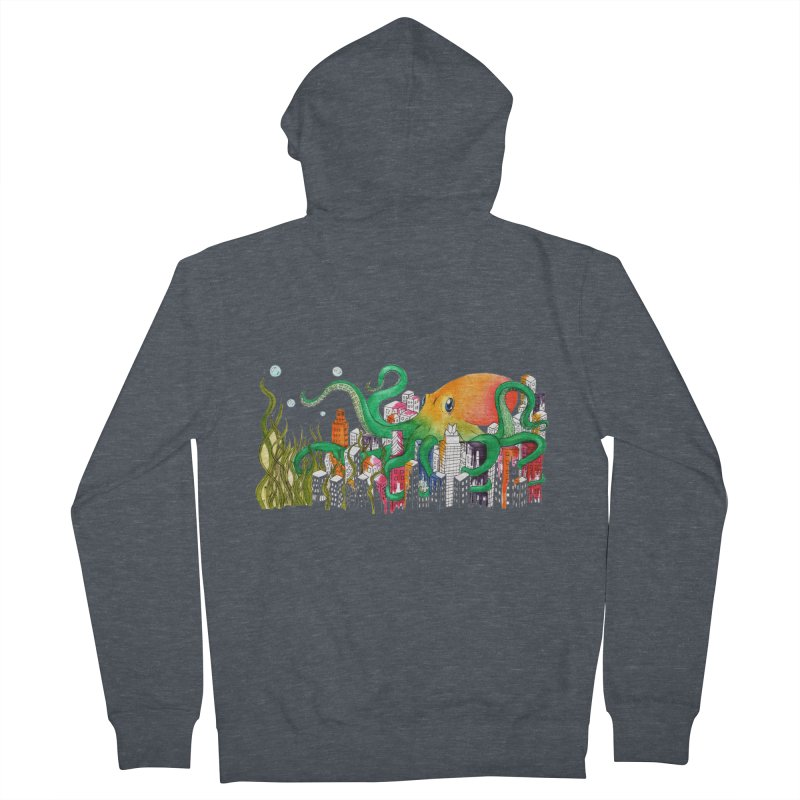 Attack on Austin Women's French Terry Zip-Up Hoody by Anissa's Artist Shop