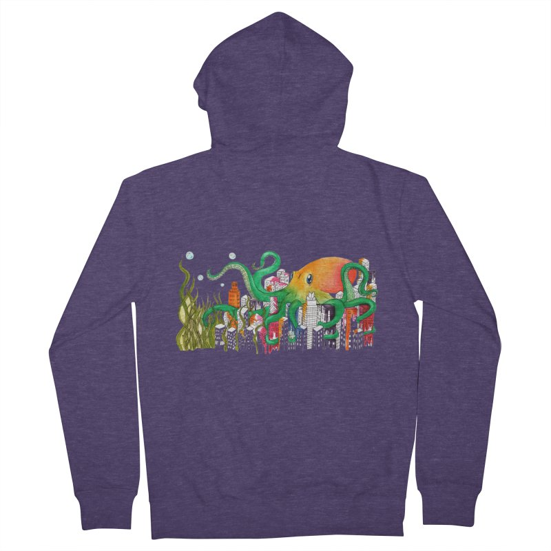 Attack on Austin Men's French Terry Zip-Up Hoody by Anissa's Artist Shop