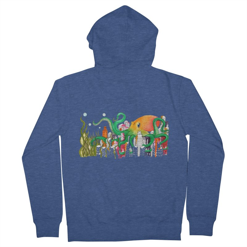Attack on Austin Men's Zip-Up Hoody by Anissa's Artist Shop