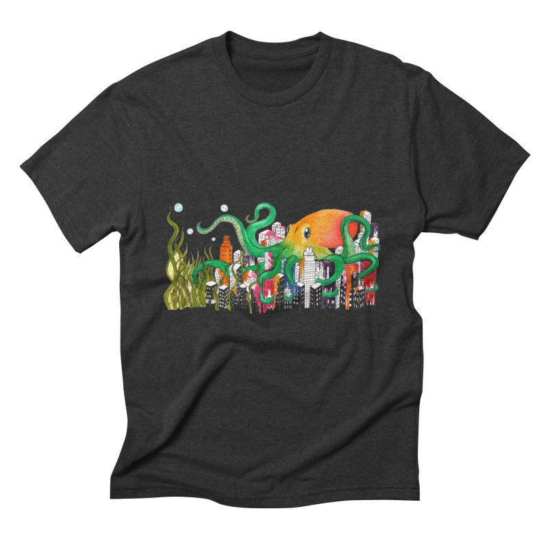 Attack on Austin Men's Triblend T-Shirt by Anissa's Artist Shop