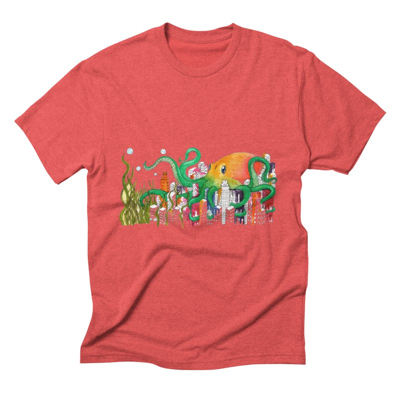 Attack on Austin Men's Triblend T-Shirt by Anissa's Artist Shop