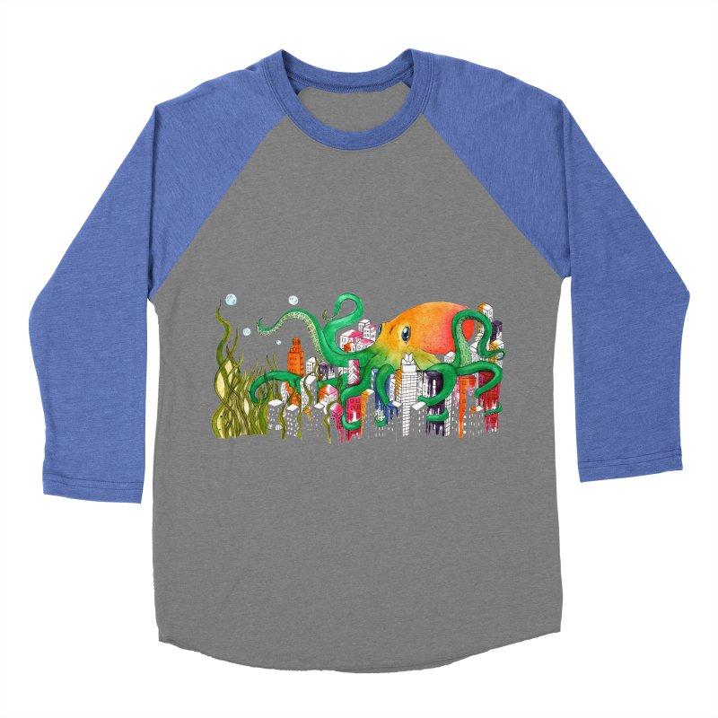 Attack on Austin Women's Baseball Triblend T-Shirt by Anissa's Artist Shop