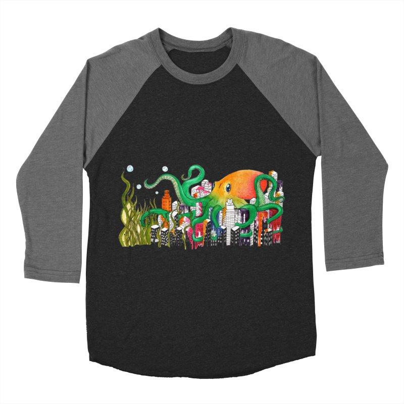 Attack on Austin Men's Baseball Triblend Longsleeve T-Shirt by Anissa's Artist Shop