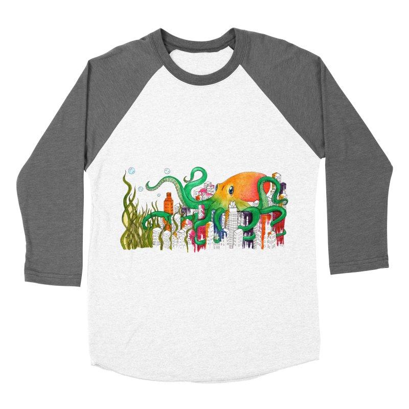Attack on Austin Men's Baseball Triblend T-Shirt by Anissa's Artist Shop