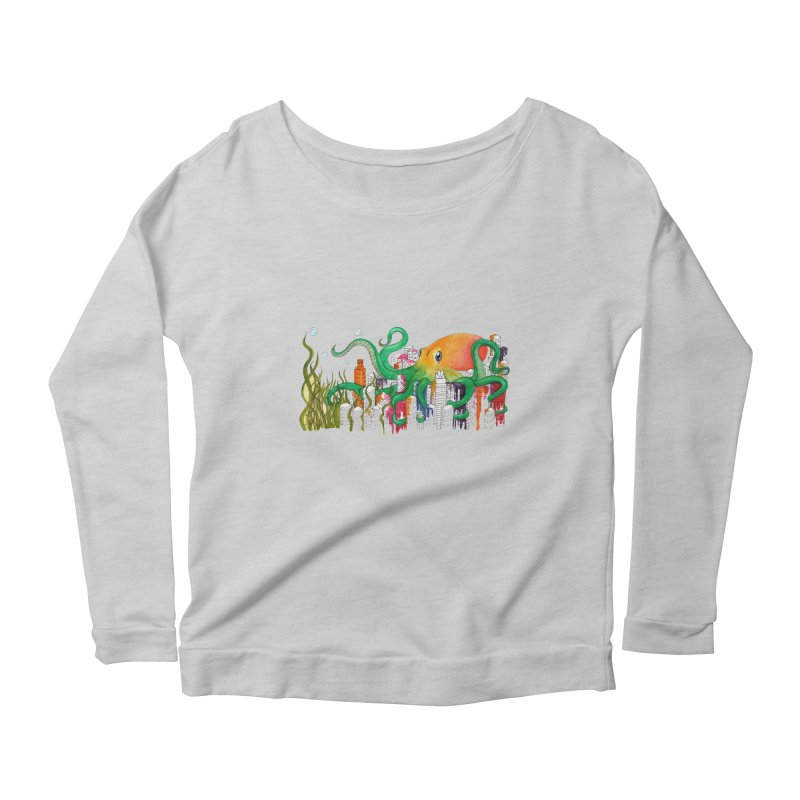 Attack on Austin Women's Longsleeve Scoopneck  by Anissa's Artist Shop