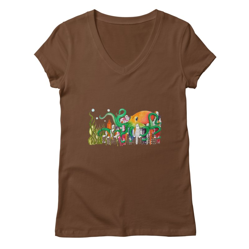 Attack on Austin Women's Regular V-Neck by Anissa's Artist Shop