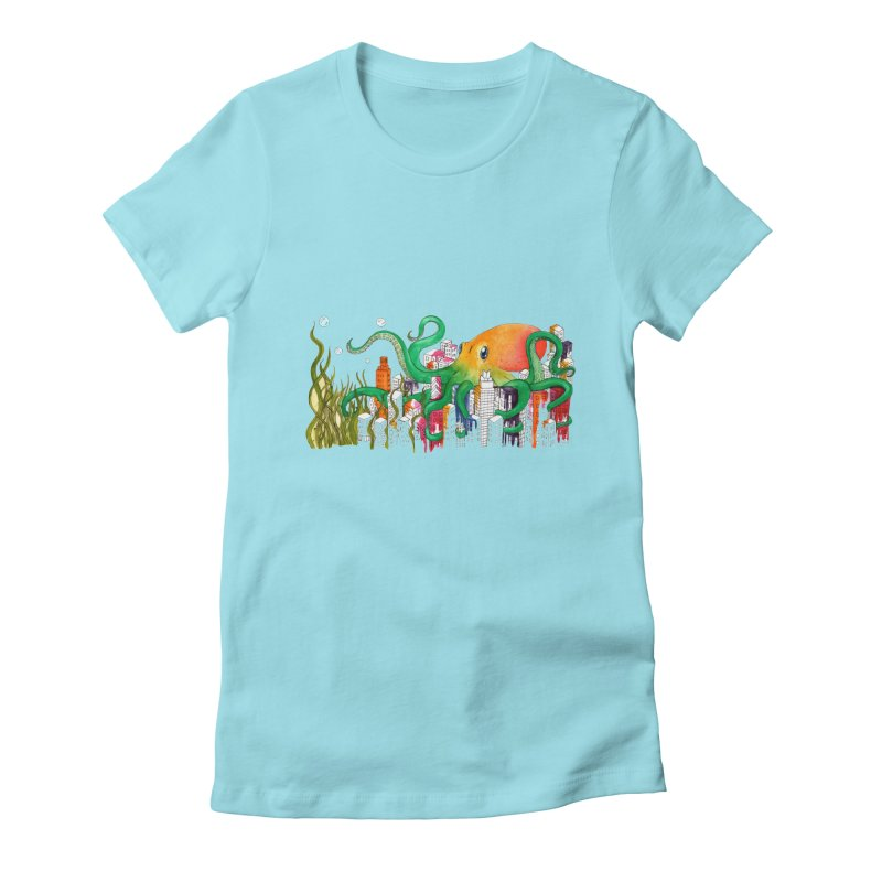 Attack on Austin Women's Fitted T-Shirt by Anissa's Artist Shop