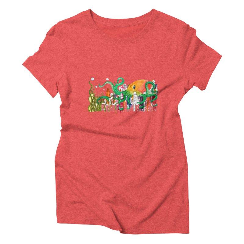 Attack on Austin Women's Triblend T-shirt by Anissa's Artist Shop