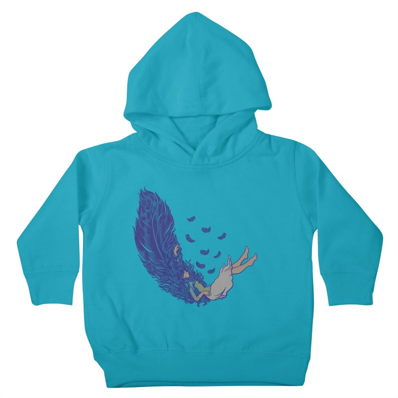 Feather Kids Toddler Pullover Hoody by anivini's Artist Shop