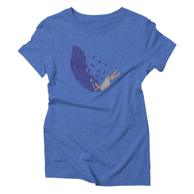 Feather Women's Triblend T-Shirt by anivini's Artist Shop