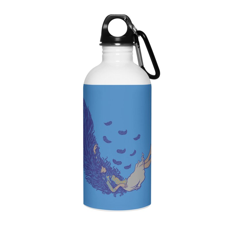 Feather Accessories Water Bottle by anivini's Artist Shop
