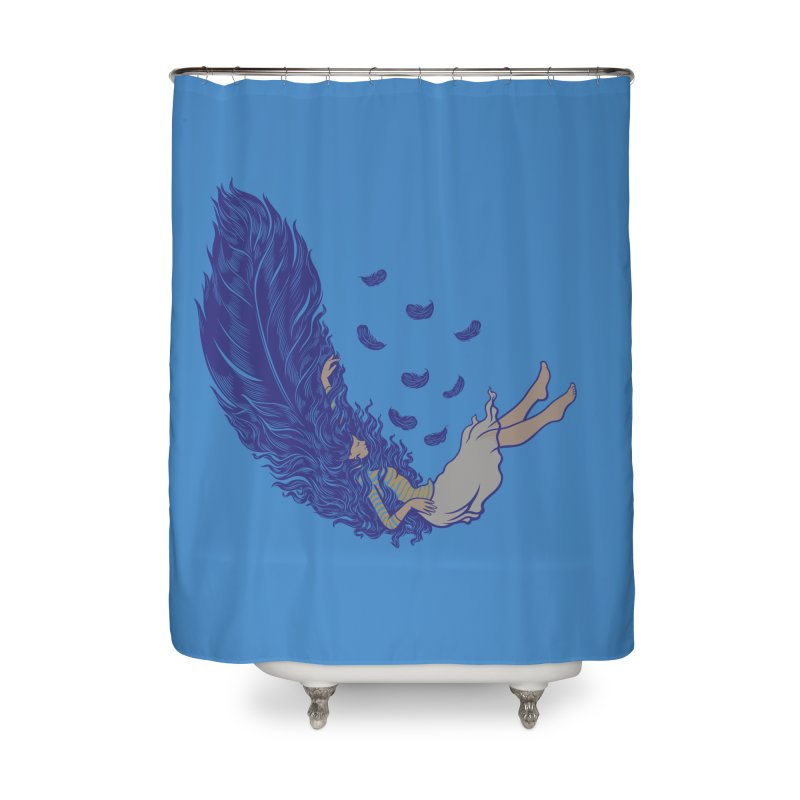 Feather Home Shower Curtain by anivini's Artist Shop