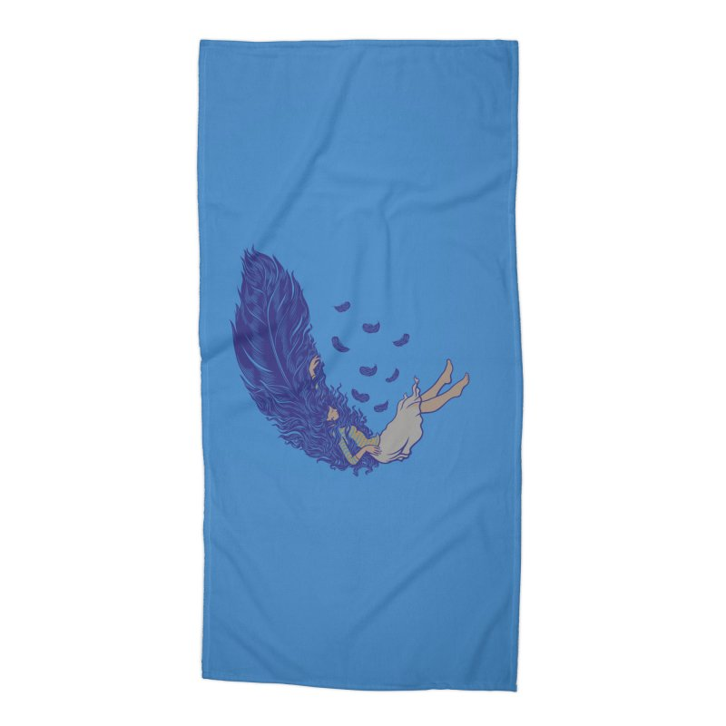 Feather Accessories Beach Towel by anivini's Artist Shop