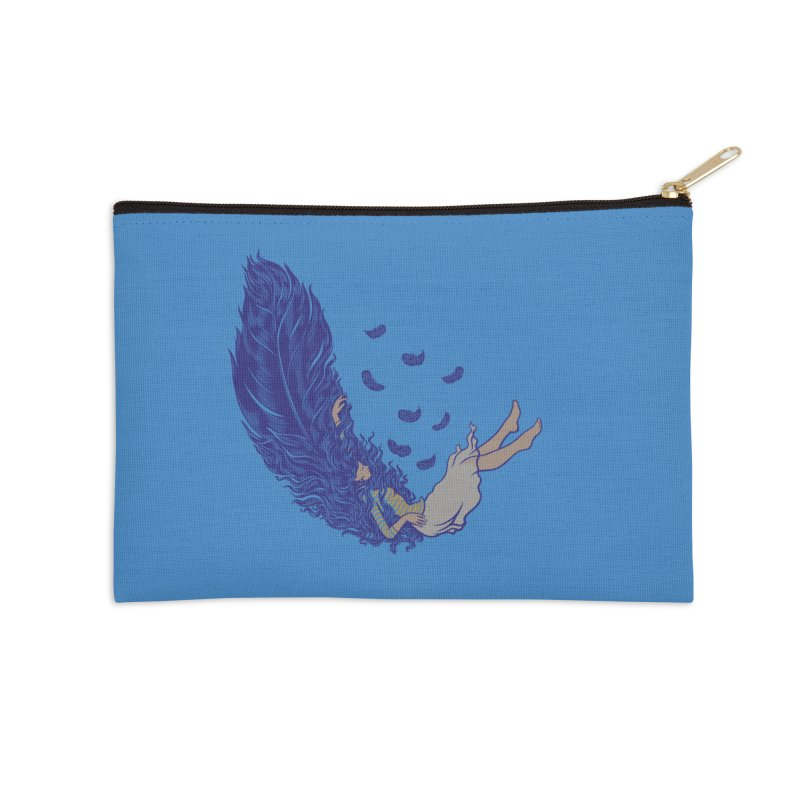 Feather Accessories Zip Pouch by anivini's Artist Shop