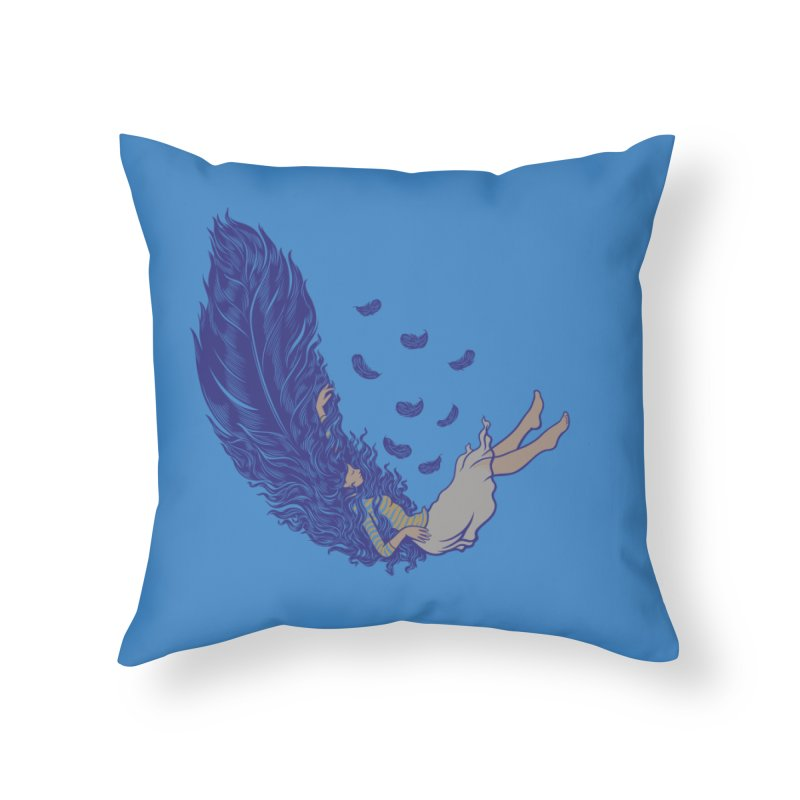 Feather Home Throw Pillow by anivini's Artist Shop