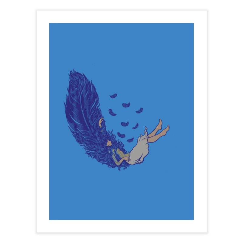 Feather Home Fine Art Print by anivini's Artist Shop