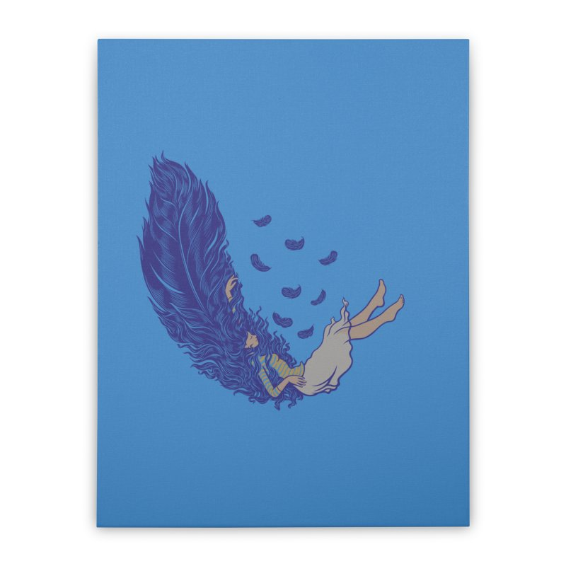 Feather Home Stretched Canvas by anivini's Artist Shop