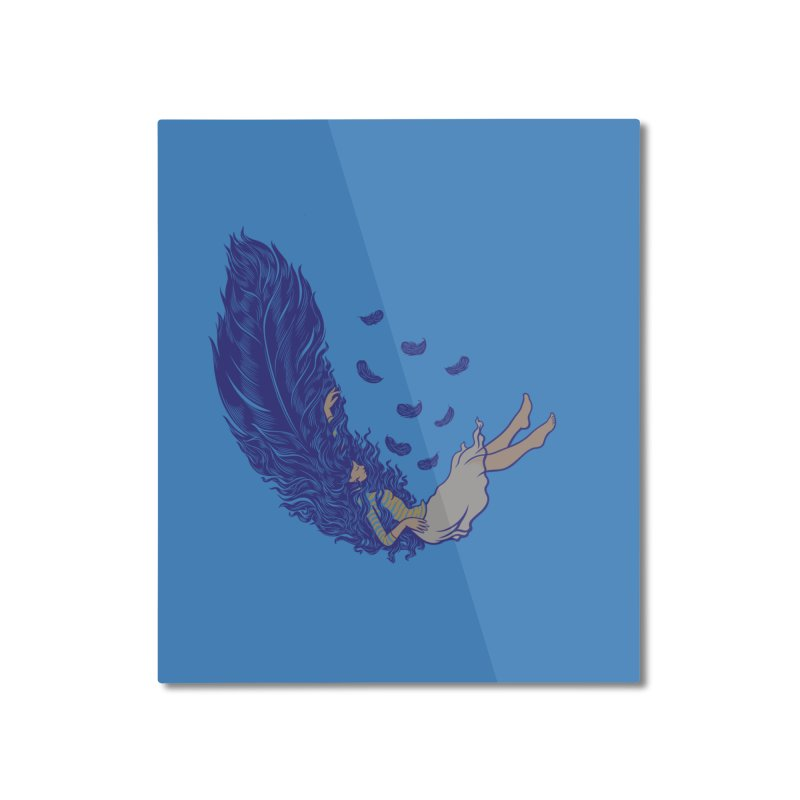 Feather Home Mounted Aluminum Print by anivini's Artist Shop