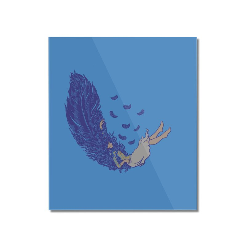 Feather Home Mounted Acrylic Print by anivini's Artist Shop