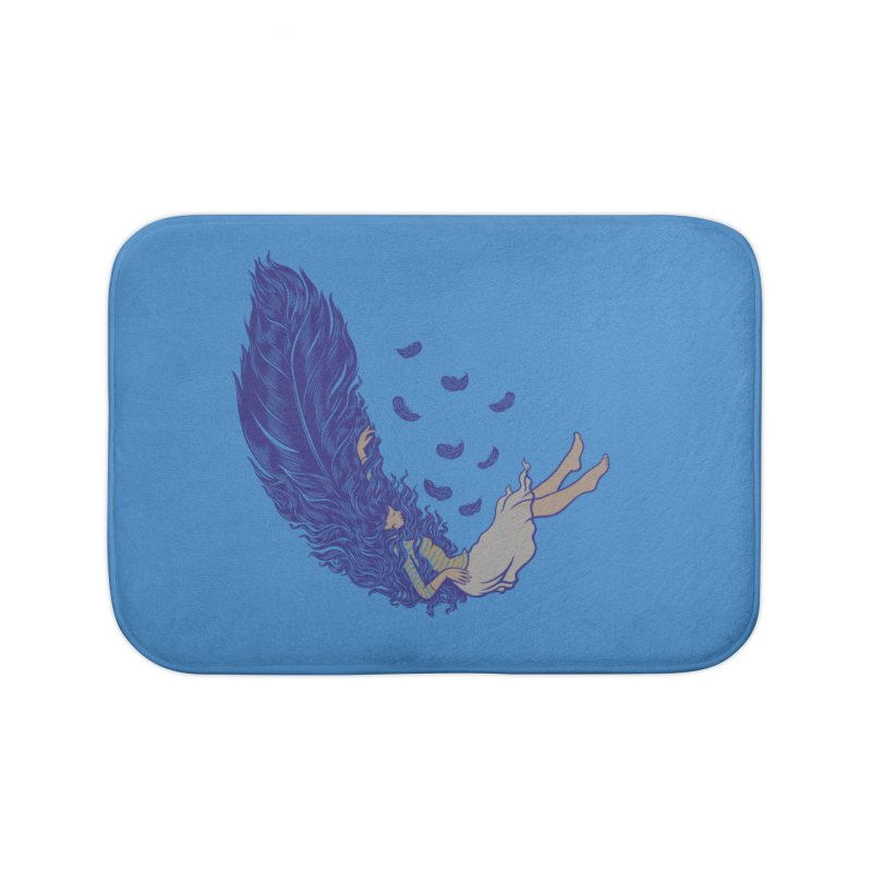 Feather Home Bath Mat by anivini's Artist Shop