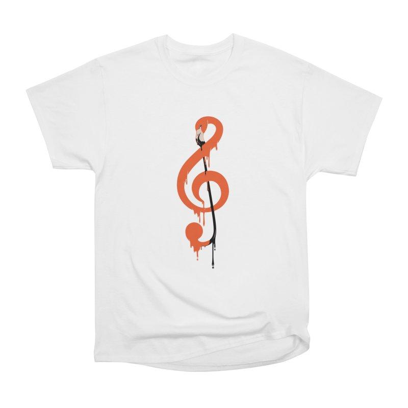 flamingo musical note Women's Classic Unisex T-Shirt by anivini's Artist Shop