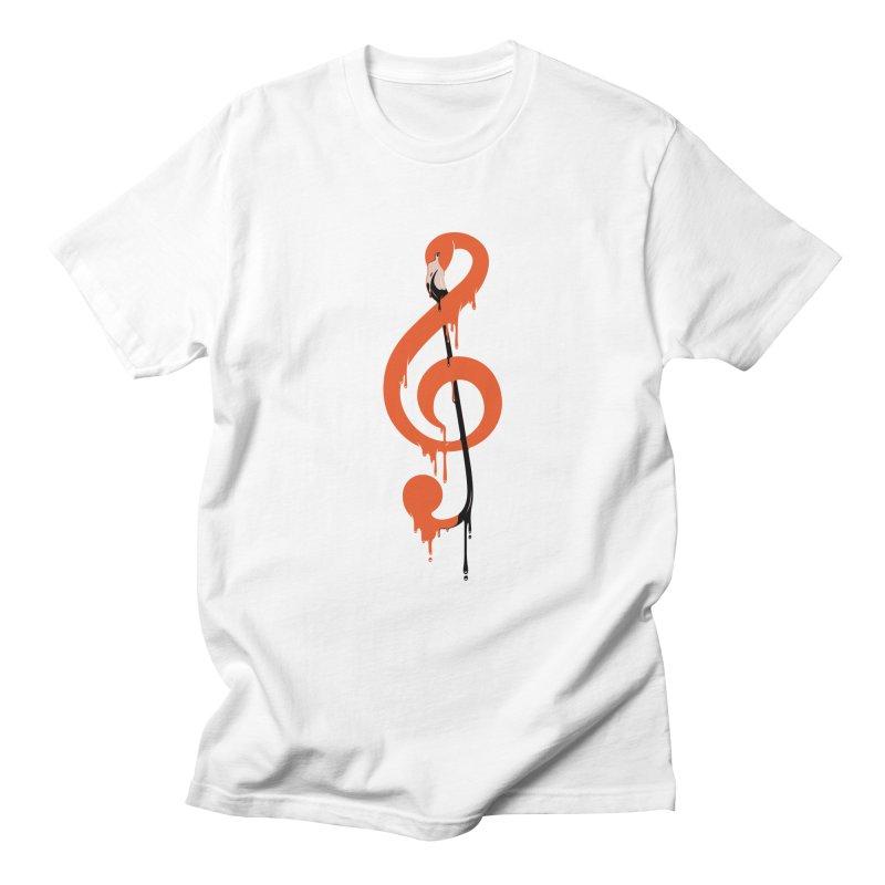 flamingo musical note Women's Regular Unisex T-Shirt by anivini's Artist Shop