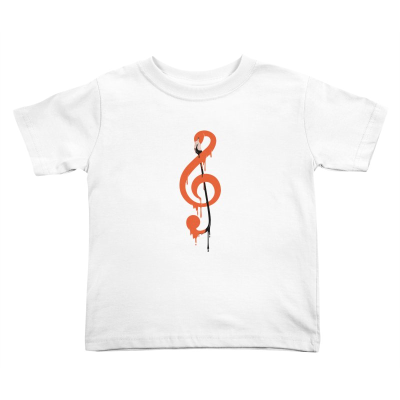 flamingo musical note Kids Toddler T-Shirt by anivini's Artist Shop