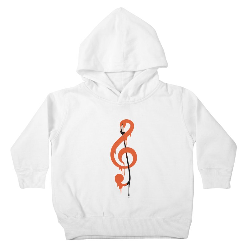 flamingo musical note Kids Toddler Pullover Hoody by anivini's Artist Shop