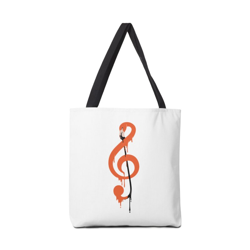 flamingo musical note Accessories Bag by anivini's Artist Shop