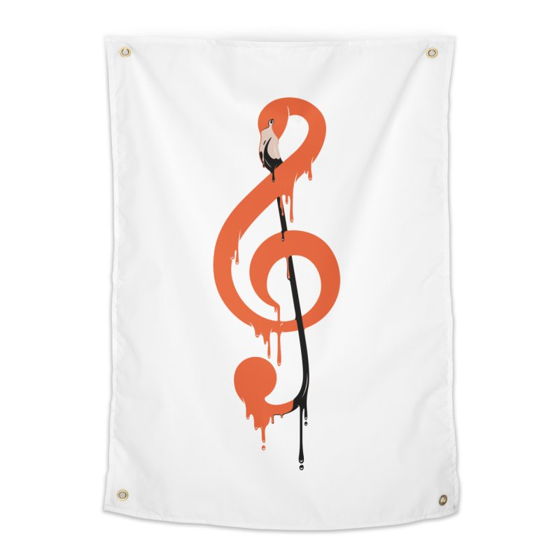 flamingo musical note Home Tapestry by anivini's Artist Shop
