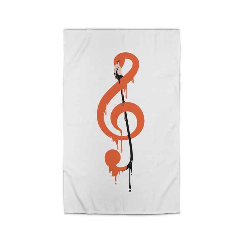 flamingo musical note Home Rug by anivini's Artist Shop