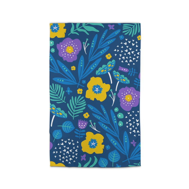 Flora Delight (Blue) Home Rug by Anna Deegan's Artist Shop