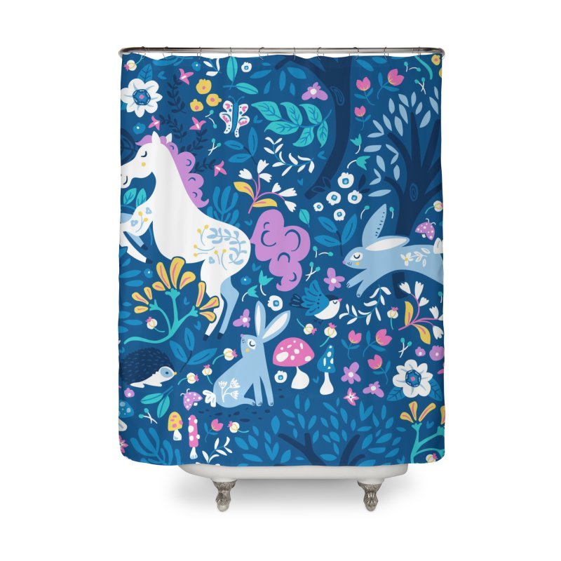 Woodland Folk Home Shower Curtain by Anna Deegan's Artist Shop